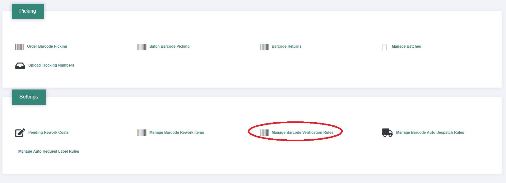 Barcode Verification barcode verified picking – mintsoft - support